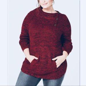 Style & Co Macy's Plus Pocket Envelope Sweater 1X